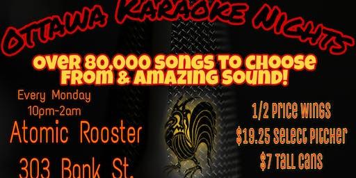Karaoke Mondays @ Atomic Rooster.