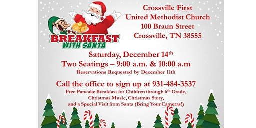 Breakfast with Santa - please select 1 ticket per child 6th grade & under