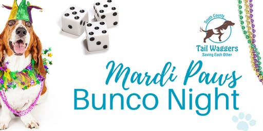 SCTW's 3rd Annual Mardi Paws Bunco Night