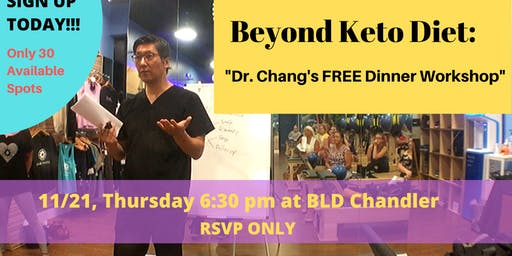 FREE Dinner Workshop: Beyond Keto Diet