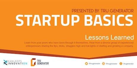 Startup Basics | Lessons Learned tickets