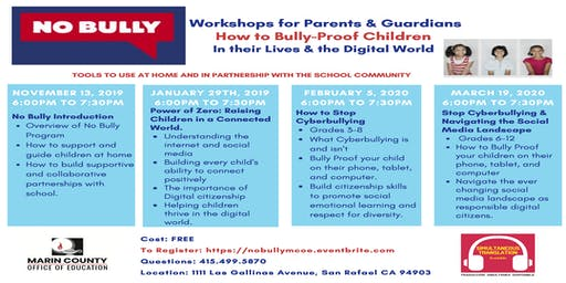 No Bully Workshops