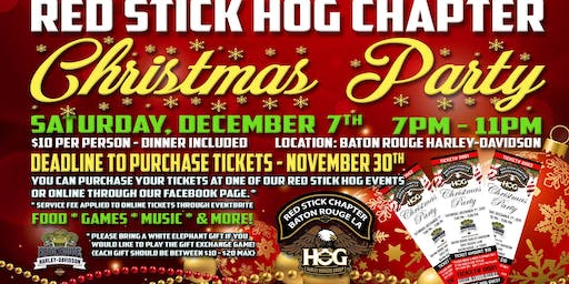 Red Stick HOG Chapter - Christmas Party 2019
