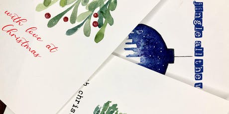 Make your own handmade Christmas cards with local Watercolour artist Maria tickets