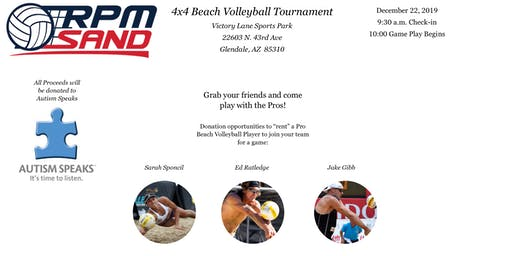 Charity 4x4 sand volleyball tournament