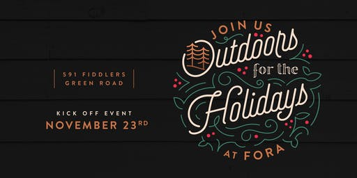 'Outdoors for the Holidays' Kickoff Event