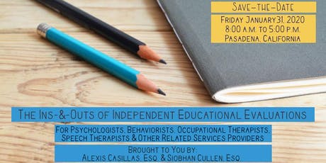 The Ins-and-Outs of Independent Educational Evaluations tickets