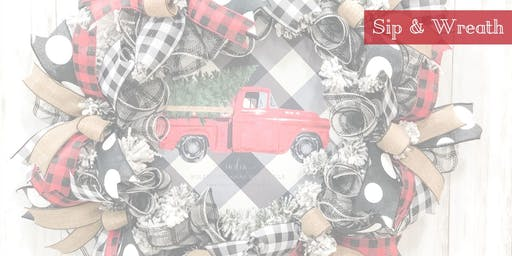 Wreath Make & Take - Buffalo Plaid/Old Red Truck Theme 11/21