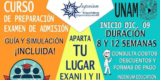 Curso de Preparación Admisión UNAM EXANI II Convocatoria Toluca