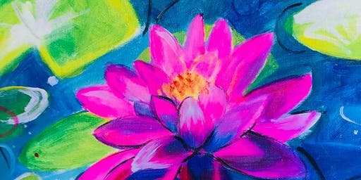 Paint Along in Canberra : Lily Pond