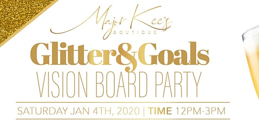 Glitter and Goals Vision Board Party