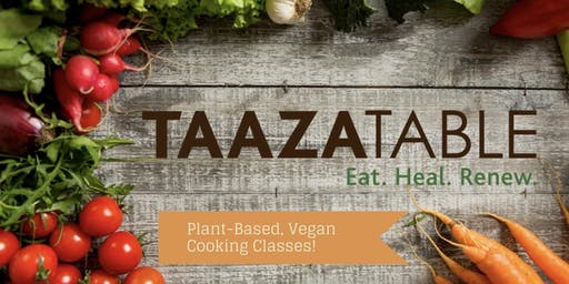 TaazaTable Cooking Class - Vegan Thai Menu