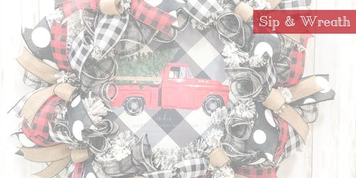 Wreath Make & Take  - Buffalo Plaid/Old Red Truck Theme 11/15/19