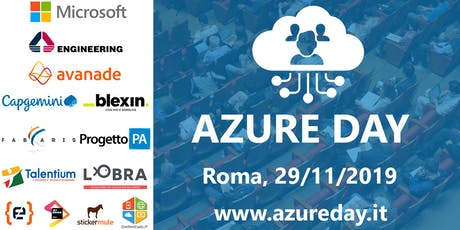 Azure Day Rome 2019 Reloaded tickets