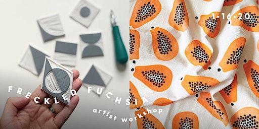 Freckled Fuchsia Block Printing Workshop