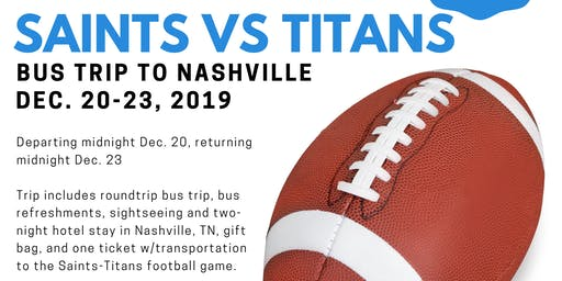 Take No Prisoners: Saints vs Titans Bus Trip