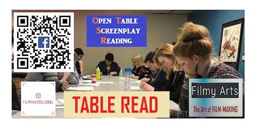 Screenplay Open Table Read (FREE feedback)