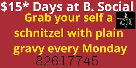 $15* Schnitzel Day tickets