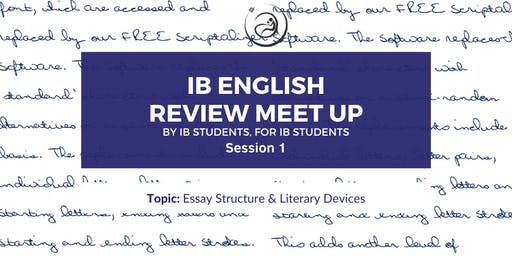 IB English Review Meet-up Session 1