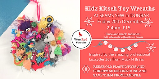 Kitsch Kids Xmas Toy Wreath Workshop-DUNBAR FRI 20th DEC