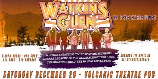 WATKINS GLEN & PETE KARTSOUNES @ VOLCANIC - SAT 12/28