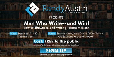 """Men Who Write"" Author Showcase and Writing-tainment event"