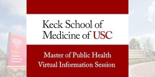 USC MPH Virtual Information Session