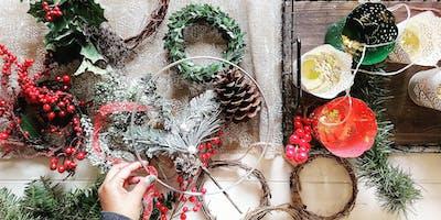Modern Christmas Wreath Workshop Saturday 7th December