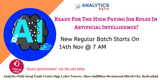 New Regular Batch On AI Training By Analytics Path From 14th Nov @ 7 am
