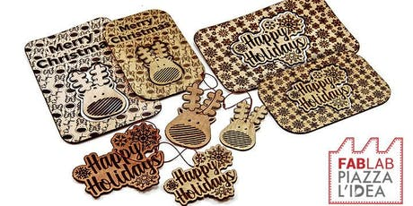 WORKSHOP DESIGN ADDOBBI NATALIZI CON LA LASERCUT biglietti