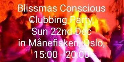 Blissmas Conscious Clubbing Sun afternoon Party at Manefisken, Oslo, 22/12