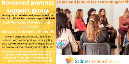 Bereaved parents' support group November meeting