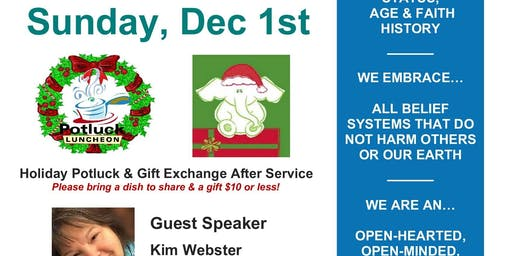 Sunday Service Service and POT LUCK/GIFT EXCHANGE