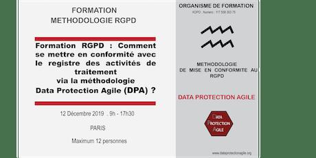 Méthodologie RGPD: Conformité via Data Protection Agile et Registre tickets