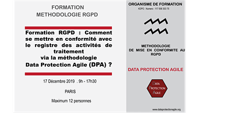 Méthodologie RGPD: Conformité via Data Protection Agile et Registre billets