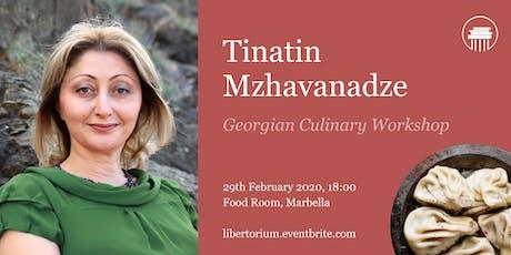 Georgian gastronomy workshop with Tinatin Mzhavanadze tickets