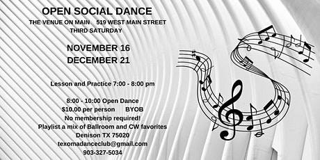 Open Social Dance tickets