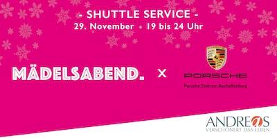 Shuttle Service: Mädelsabend Christmas x Porsche Zentrum Aschaffenburg