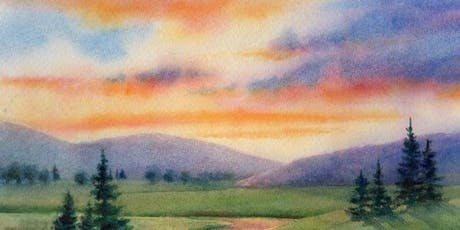 Arts and crafts for women; Seascapes and Lancscapes with watercolour  tickets