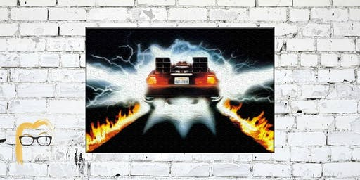 Back to the Future - DeLorean Fire Tracks Painting Event