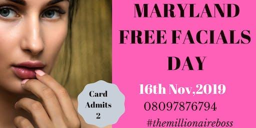 MARYLAND FREE FACIALS DAY