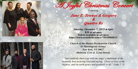 """A Joyous Christmas Concert"" featuring June E. Townes & Gospera and Quattro Re tickets"