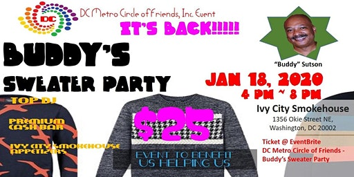 """""""BUDDY' S SWEATER PARTY"""" -   Benefit for Us Helping Us, Inc."""