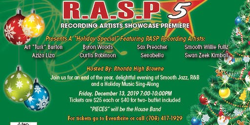 RASP 5! Recording Artist Showcase Premier HOLIDAY SPECIAL!