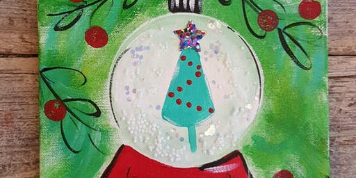 12/15 $22 Christmas Snow Globe @ Paint Like ME!