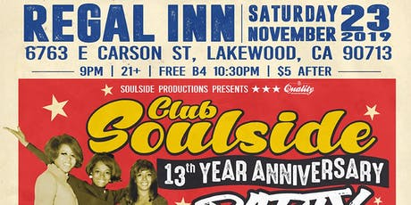 Club Soulside 13 year Anniversary  Party tickets