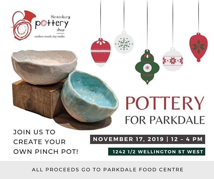 Pottery For Parkdale: Open House & Community Fundraiser image
