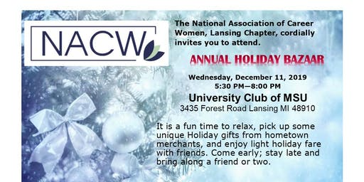 NACW Holiday Bazaar 2019