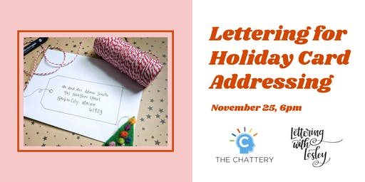 Lettering for Holiday Card Addressing