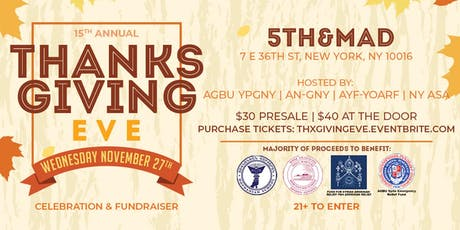 15th Annual Armenian Thanksgiving Eve Party/Fundraiser tickets